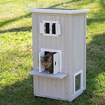 Amazon.com : Elite Cat Condo Outdoor or Indoor Cat House : Pet ...