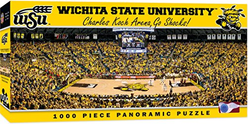 MasterPieces NCAA Wichita State Shockers Basketball Stadium Panoramic Jigsaw Puzzle, 1000-Piece
