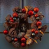 Tebery Premium Over The Door 12-Inch Metal Wreath