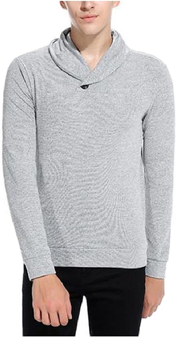 Ruhua Mens Pullover Sweater Solid Casual Long Sleeve Knitting Shirt
