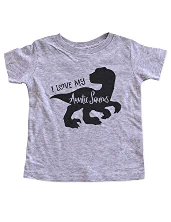 b21ffaa758d19 Amazon.com  Hello Handmade I Love My Auntie Saurus Dinosaur Party Infant  Baby Toddler Shirt  Clothing