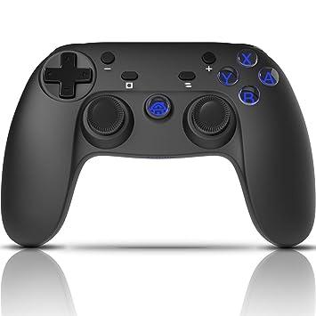 CHEREEKI Mando Inalámbrico, Controlador Switch, Controlador Inálambrico Azul para Nintendo Switch Gamepad Mando de Juegos (Función de Eje giroscópico ...