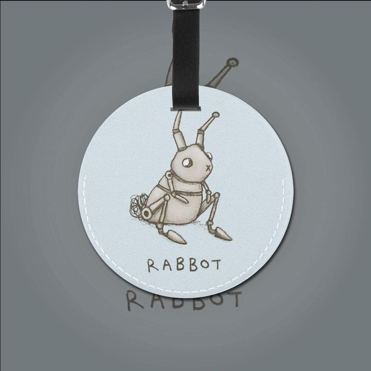 RABBOT Rabbit Robot Luggage Tags Suitcase Luggage Tags Travel Accessories Baggage Name Tags 2 PCS