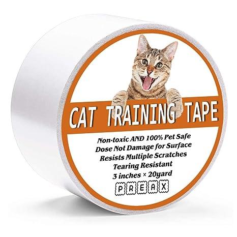 PREAX Cinta de entrenamiento antiarañazos para gatos, para ...