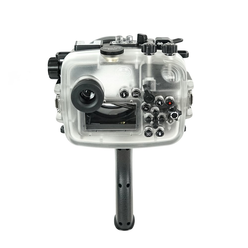 SeaFrogs 60M/195FT Waterproof housing A6xxx series Salted Line (Black) with pistol grip For Sony a6500 a6300 by KitDive (Image #6)