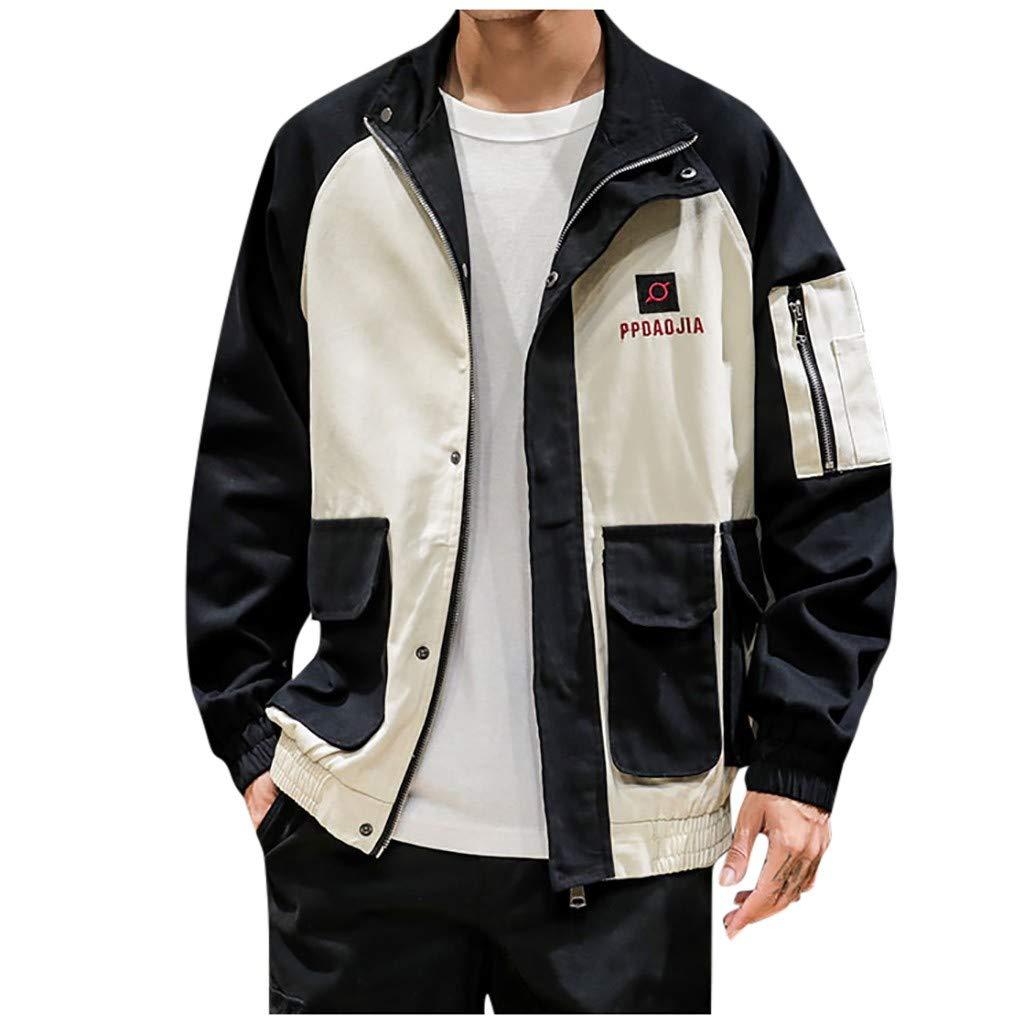 Allywit M -5XL Men's Lightweight Men's Cotton Military Jacket Casual Outdoor Windbreaker Coat Black