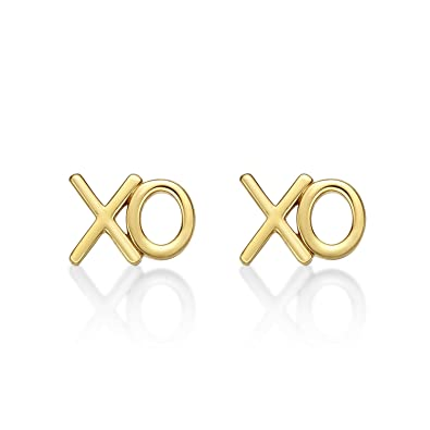 ade1a6ca9f0 XO (Hugs & Kisses) Sterling Silver Earrings. XO Earrings available as Solid  Silver Earrings, Yellow Gold Earrings or Rose Gold Earrings with Push-on ...