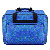 Sewing Machine Tote Bag Portable Waterproof Carrying Bag with Pockets and Handles - US Stock (Blue)