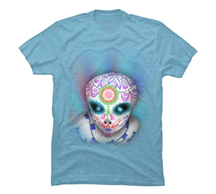 685a323d7a98 Amazon.com: alien sugar skull Men's Graphic T Shirt - Design By Humans:  Clothing