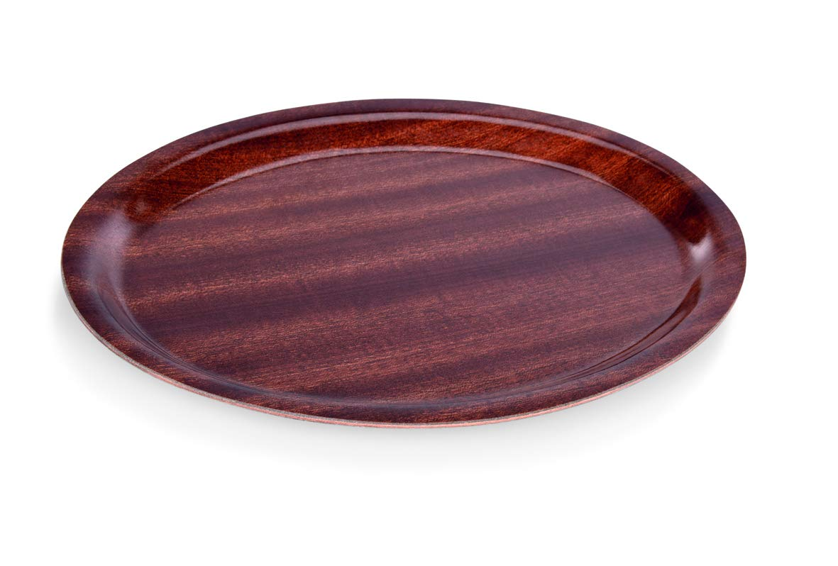 Oval 23 cm x 16 cm WAS 9005 230 Melaminbeschichtetes Pressholz Tablett