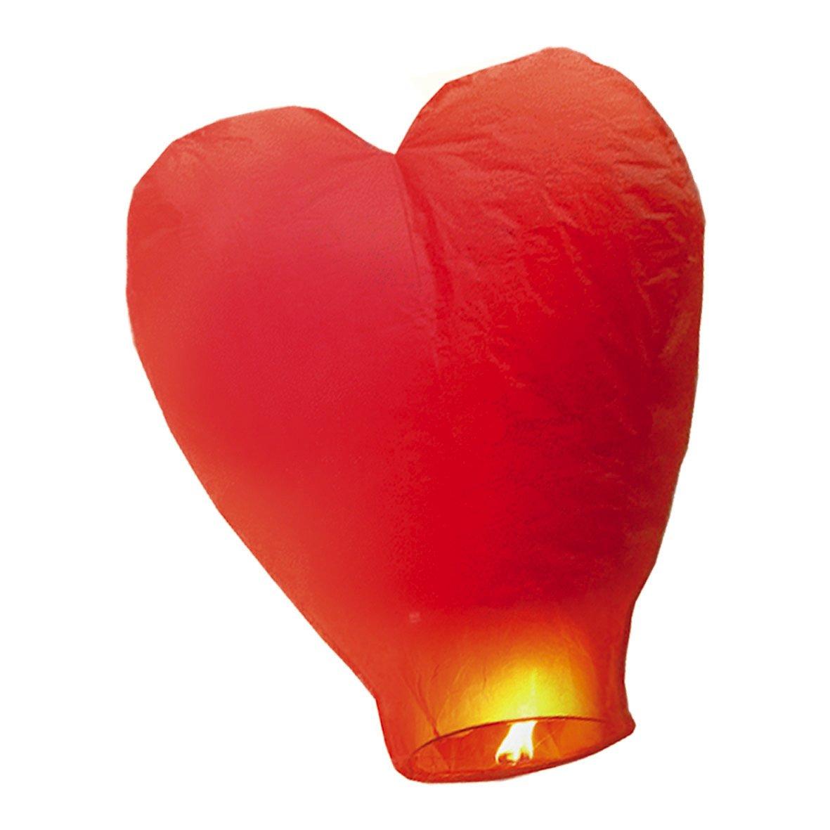 BiG Party Lanterna Dei Cieli - Cuore Rosso