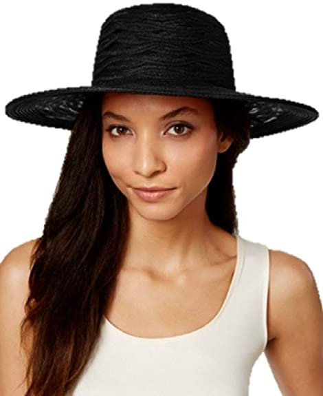 401f5bc58db Image Unavailable. Image not available for. Color  Nine West Sheer Open  Super Floppy Hat Black ONE Size