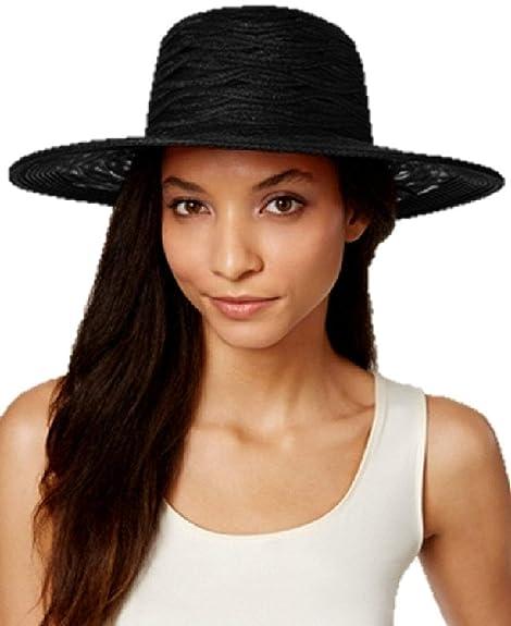 b8ada2627a500d Amazon.com: Nine West Sheer Open Super Floppy Hat Black ONE Size: Shoes