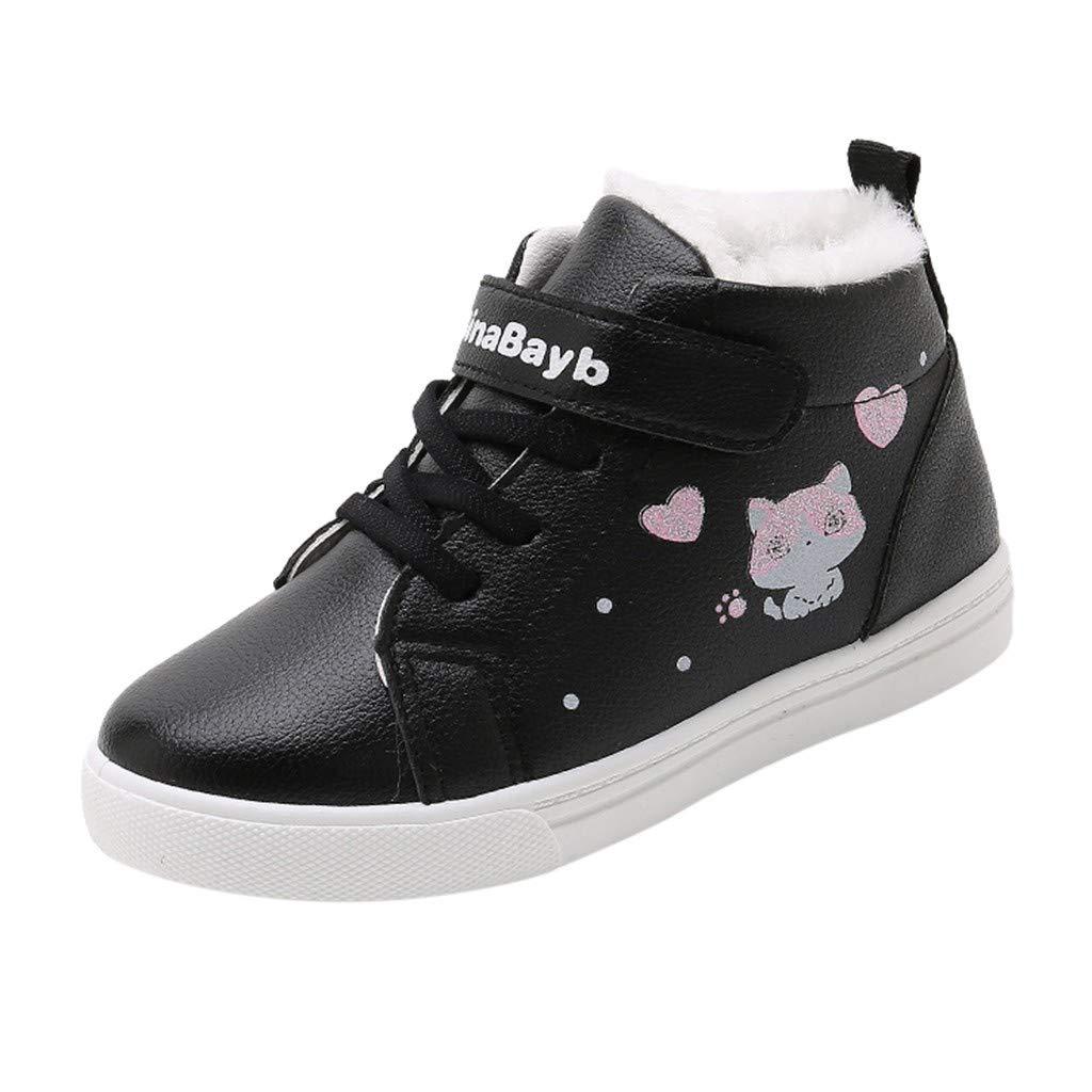 Yesmile Botas Niño Niña Botines Zapatos sin Cordones Invierno Botas de Nieve Cálido Aire Libre Boots Escuela Fiesta Caminando Viaje