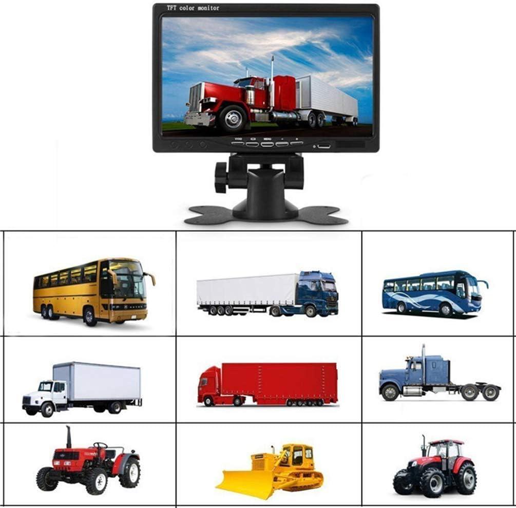 7syst/ème de stationnement 2 cam/éras de recul voiture /étanche 18 LED IR pour vision nocturne moniteur de vue arri/ère pour cam/éras de recul pour v/éhicules de camping//car//autobus//remorque//camion