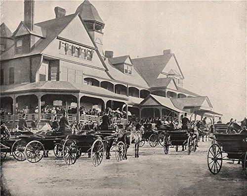 - Washington Park Jockey Club, Chicago, Illinois. Carriages. Horse racing - 1895 - old print - antique print - vintage print - Illinois art prints