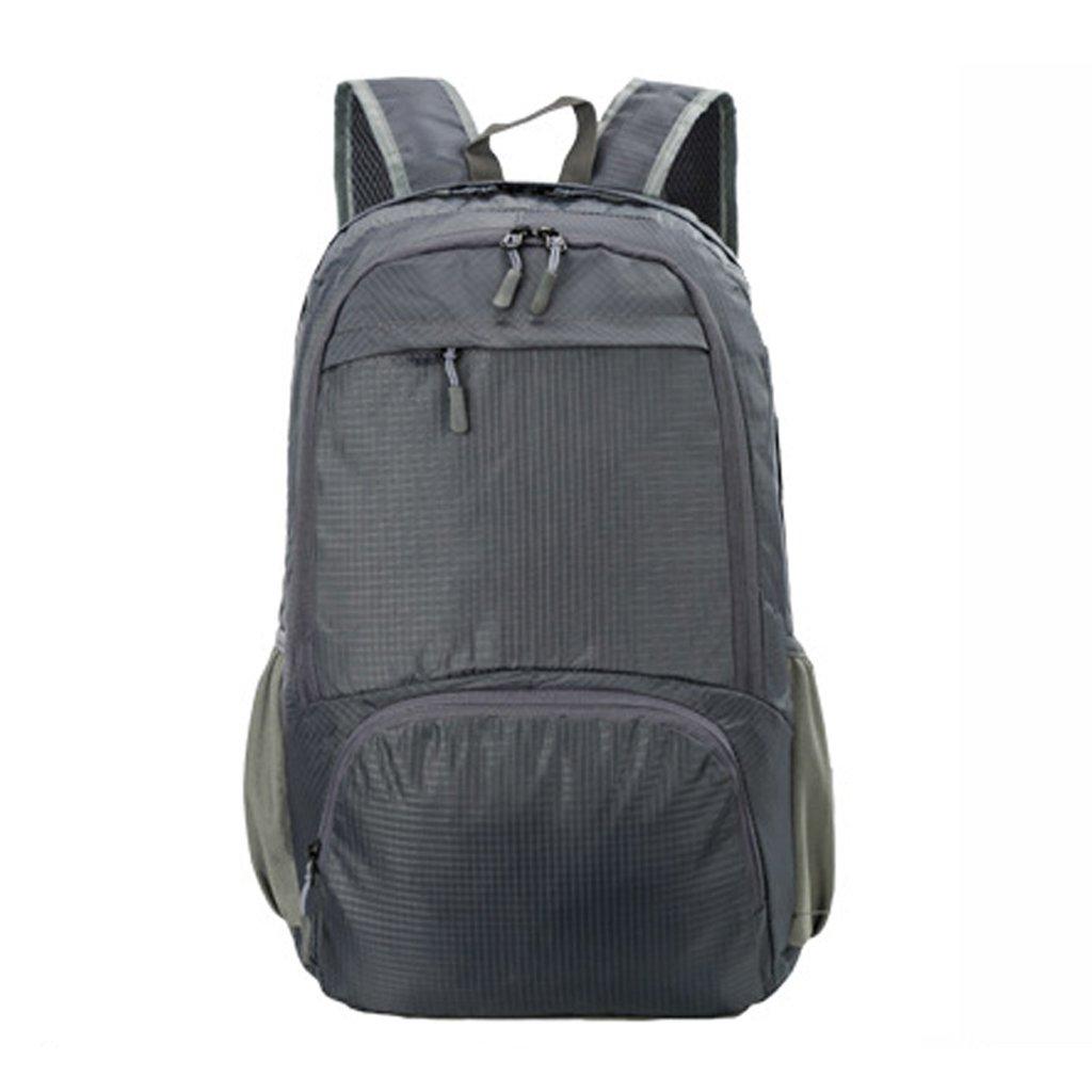 c-xka折りたたみ式リュックサック超軽量バックパック、ユニセックス耐久性便利Daypack for Travel &アウトドアスポーツ耐久性&防水  グレー B07FNTXWSV