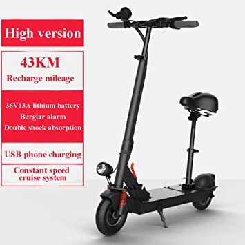 Amazon.com: SYCHONG Scooter eléctrico, con mango ajustable y ...