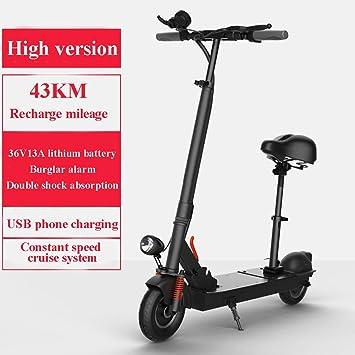 Amazon.com: SYCHONG Scooter eléctrico, con mango ajustable y ...