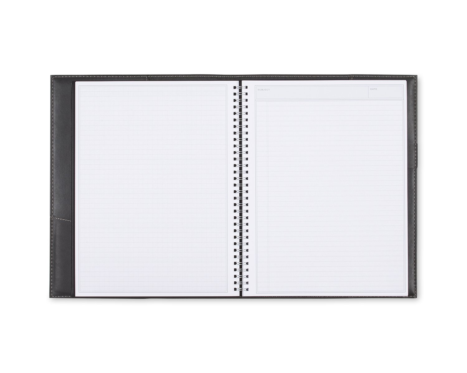 Blue Sky Professional Notebook, Leather-Like Textured Cover, Twin-Wire Binding, 8.5'' x 11'', Black by Blue Sky (Image #2)
