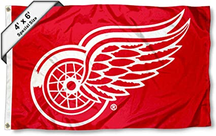 Detroit Red Wings Large Flag 4x6 Feet Banner