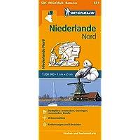 Michelin Niederlande Nord: Straßen- und Tourismuskarte 1:200.000 (MICHELIN Regionalkarten, Band 531)
