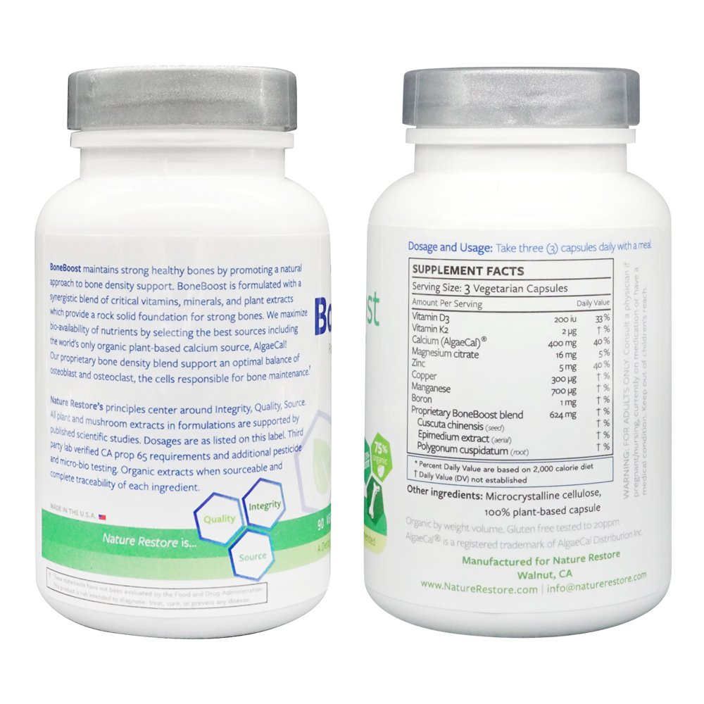 Amazon.com: Naturaleza restaurar boneboost osteoporosis ...