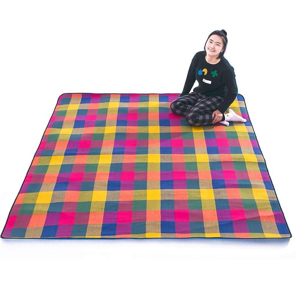 ZKKWLL Picnic Blanket Large Picnic Blanket Waterproof Backing 200 x 200 cm Beach Carpet mat - Folding and Portable for Beach Camping Picnic mat by ZKKWLL