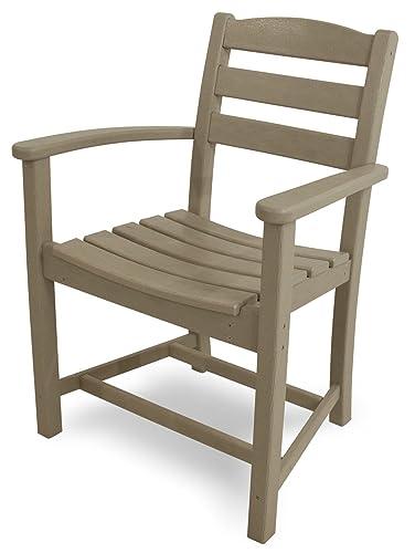 POLYWOOD TD200SA La Casa Caf Dining Arm Chair, Sand