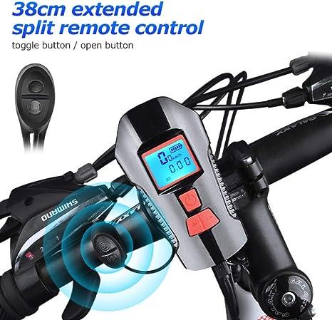 RYHTJN Campana de Bicicleta a Prueba de Agua con luz USB Carga de ...