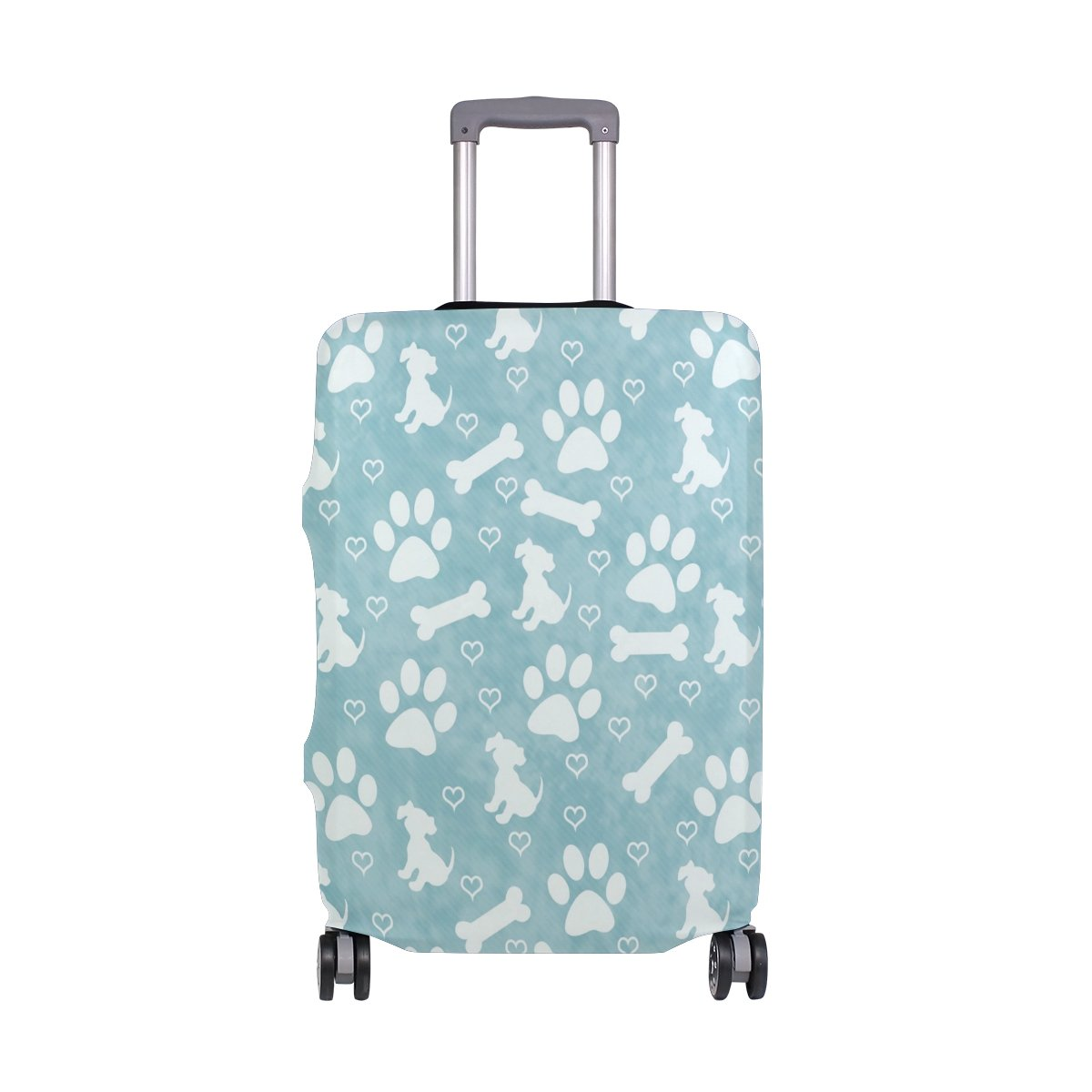 Vintage Cute Dog Love Heart Suitcase Luggage Cover Protector for Travel Kids Men Women