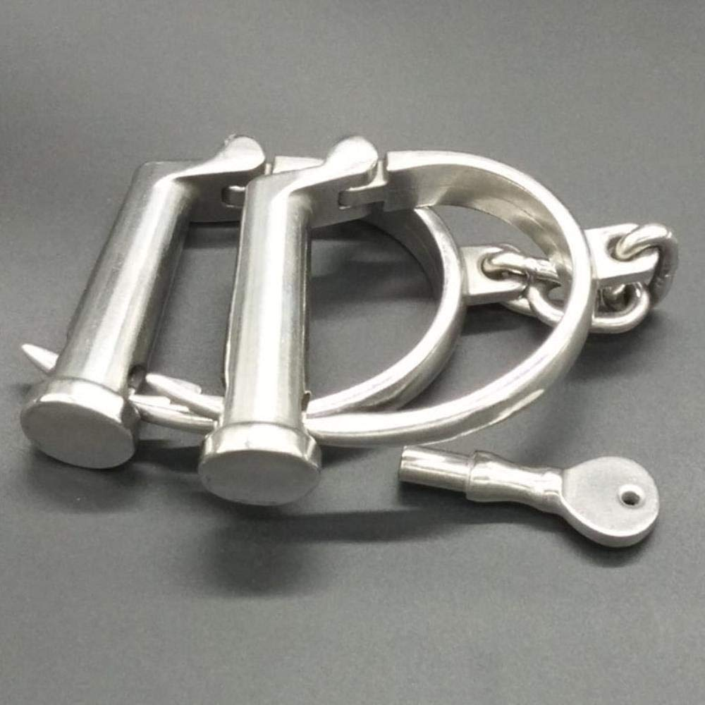 Adjustable Handcuffs Leg Irons Sex Toys for Couples Adult Games Bondage restriants Stainless Steel Hand Cuffs Fetish BDSM Tools