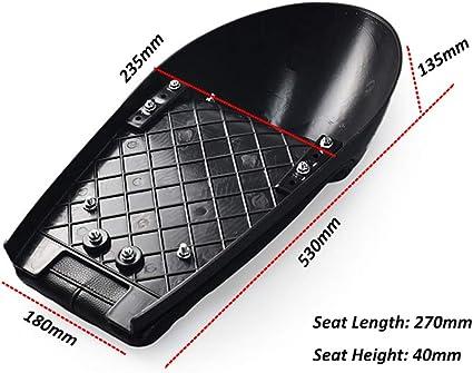 DKMOTORK 0391 Motorcycle Hump Cafe Racer Seat Universal All Black