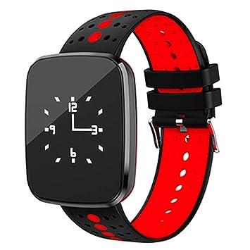 Agua Densidad Smart - Rastreador de fitness banda de pulsera Sport con frecuencia cardíaca Tensiómetro podómetro reloj: Amazon.es: Deportes y aire libre