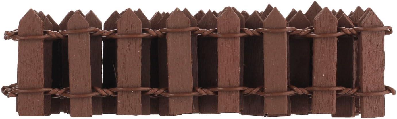 Pinzhi - 10x Valla de Madera Adorno Accesorio Decoración para Mini Paisaje de Jardín Ornamento: Amazon.es: Hogar