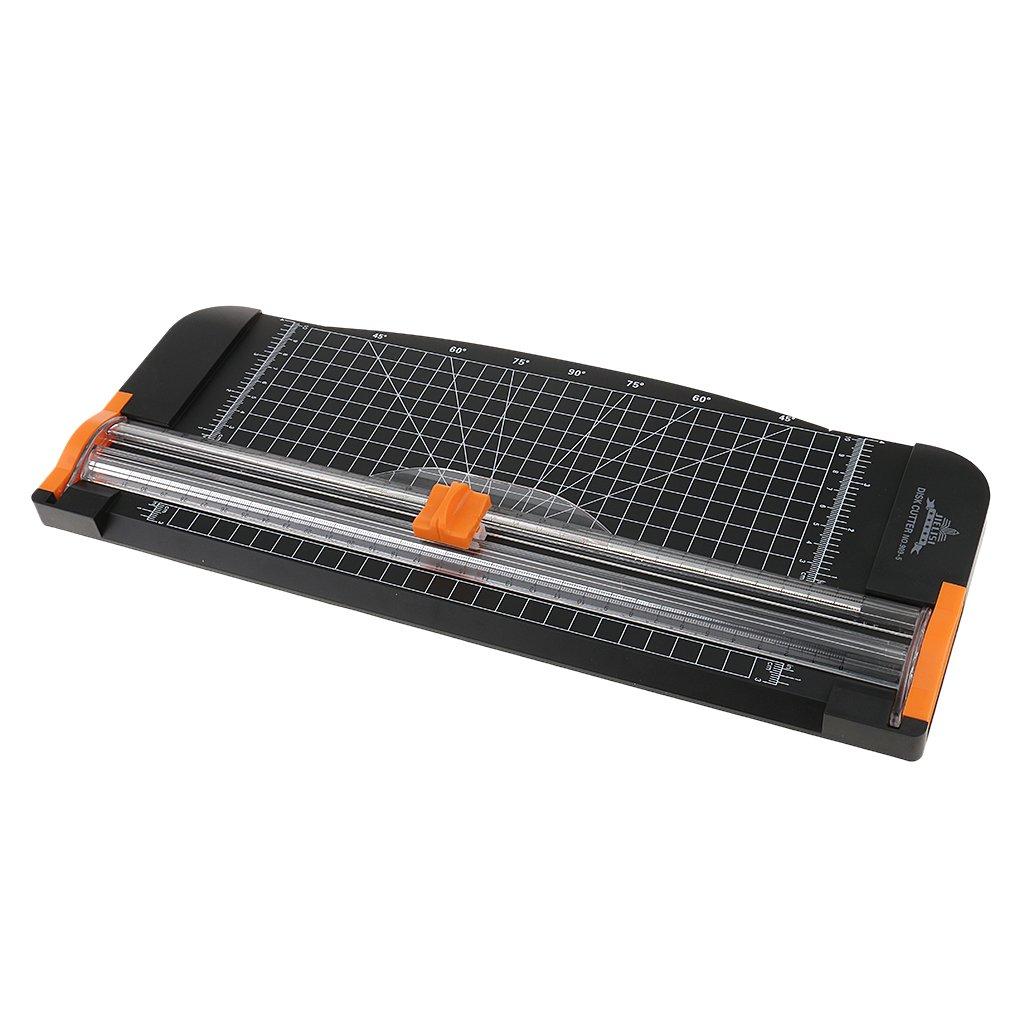 MagiDeal 30 Centimetri Carta Trimmer Cutters A4 Accesorio Scrapbooking - Nero