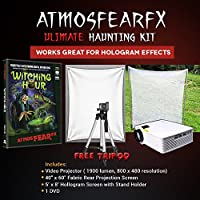 Amosfearfx Witching Hour Video Ultimate Projector Bundle.Includes Projector, Dvd, Translucent Window Screen And Hologram Screen Stand Kit.