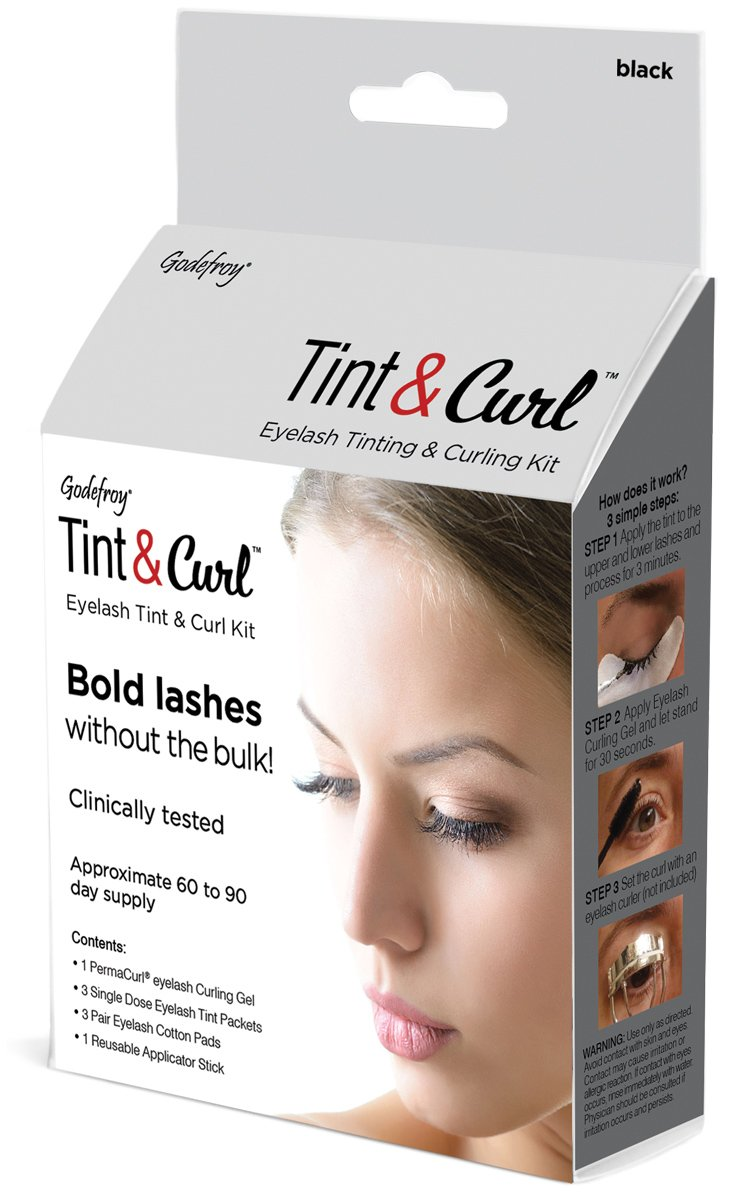 Godefroy Eyelash Tint & Curl For Bold Lashes, 6 Ounce, Black by Godefroy (Image #1)