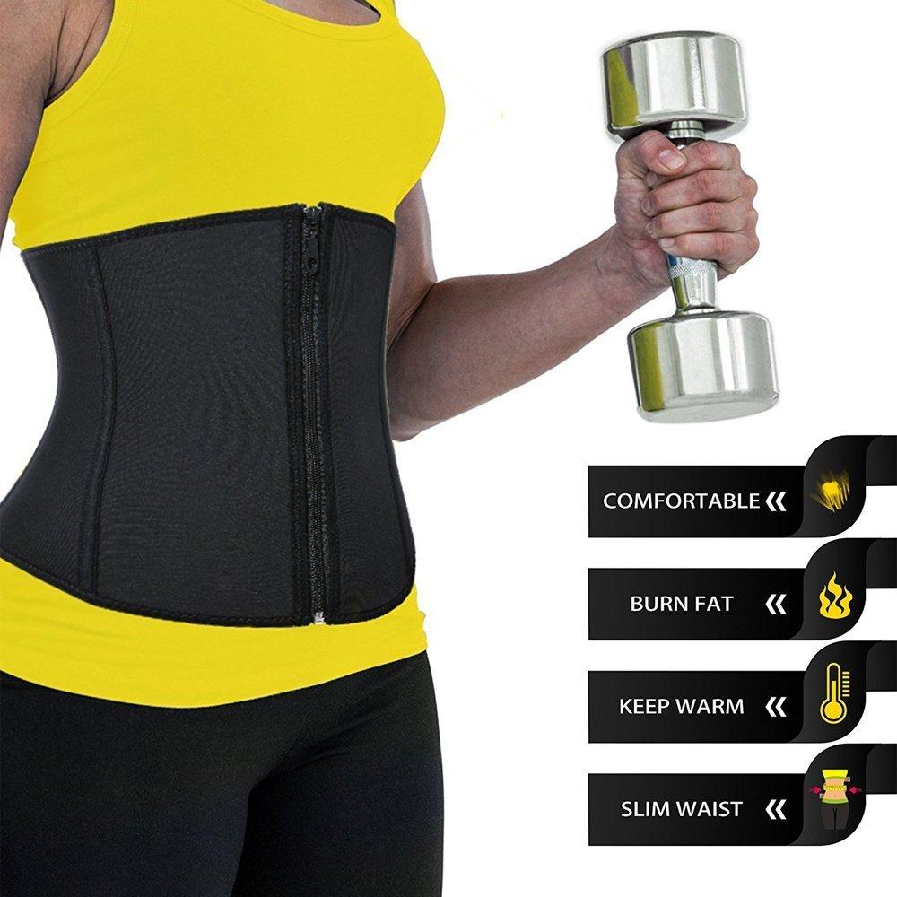 Schnalle Unterbrust Korsett F/ördert Das Schwitzen Taille Trainer Sport Workout Body Shaper Bauch Kontrolle Damen Neopren Rei/ßverschluss