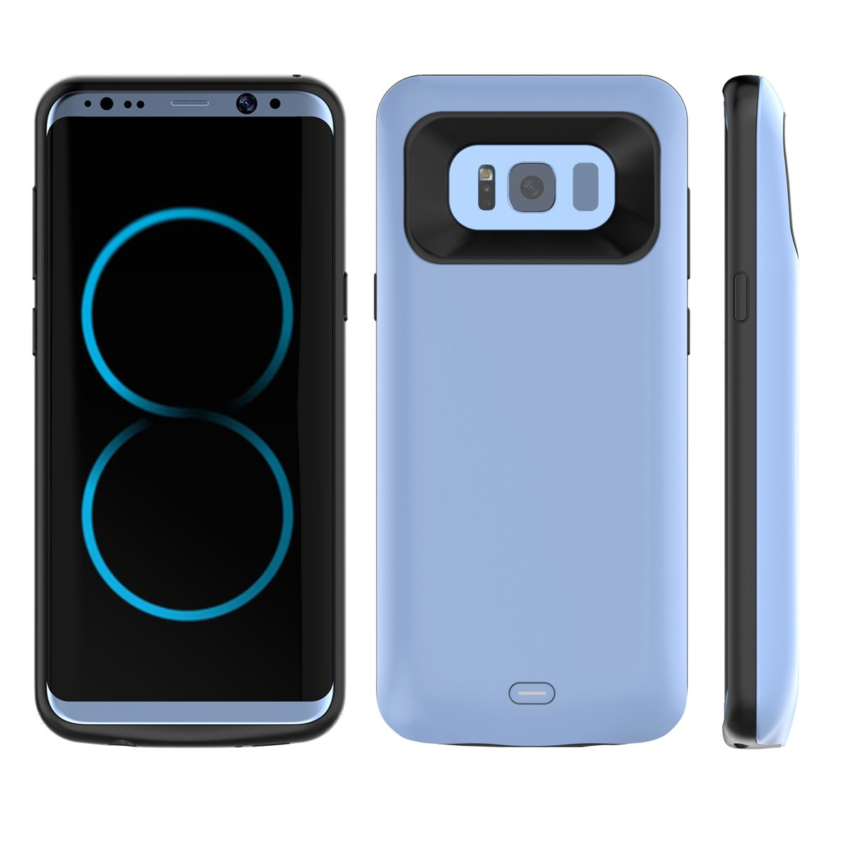 Scheam Samsung Galaxy Note 8 Battery Battery Case- Carry Case Protective Portable Rechargeable Charging Case for Samsung Galaxy Note 8 Battery Bank Power Pack -Blue