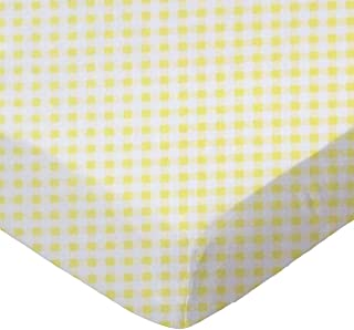 product image for SheetWorld Fitted Pack N Play (Graco) Sheet - Yellow Gingham Jersey - Made In USA
