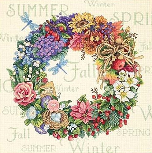 Dimensions Needlecrafts Counted Cross Stitch, Wreath Of All Seasons from Dimensions Needlecrafts