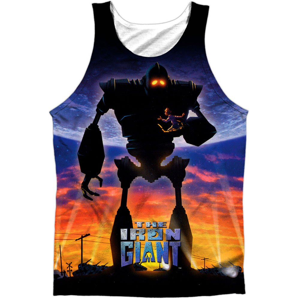 Iron Giant 1999 Animated Action Movie Poster Front Print Tank Top Shirt Trevco
