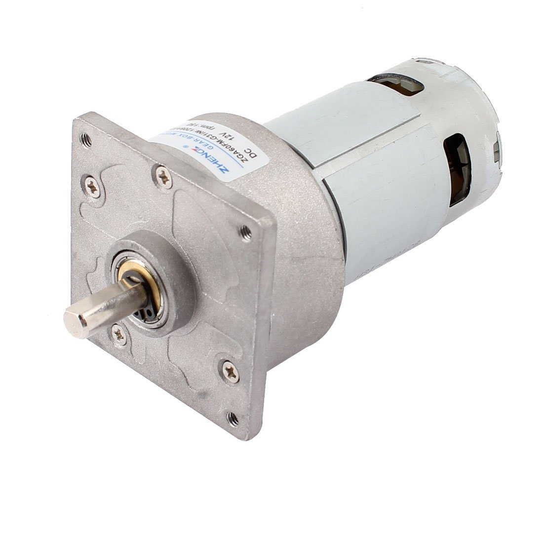 DC 12V 4600r/Min Flange Mounted Speed Reduce Magnetic Geared Motor