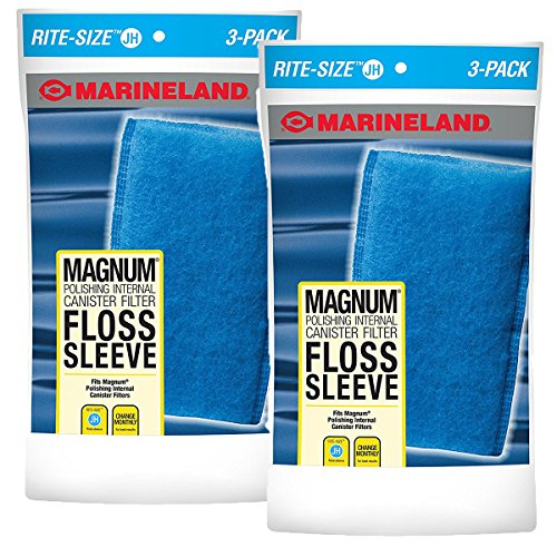 Marineland ML90769 JH Floss Sleeve Magnum Polishing Internal Filter (6 Pack)