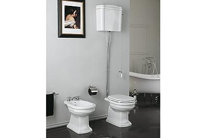 Royal wc con cassetta alta coprivaso e bidet amazon casa e