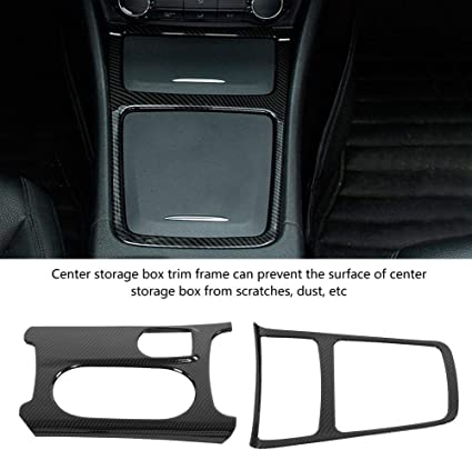 Couvercle de Porte-gobelet pour A//GLA//CLA Classe W176 C117 X156 Qiilu Auto Porte-gobelets Cadre de bo/îte de Rangement Centrale