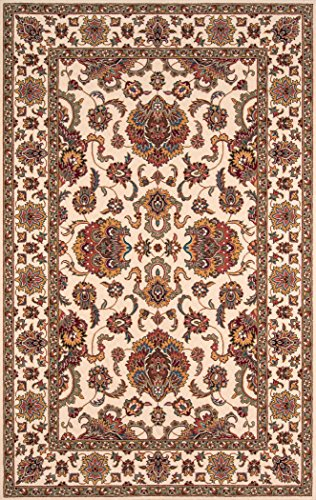 Momeni Rugs PERGAPG-14IVY80A0 Persian Garden Collection, 100% New Zealand Wool Traditional Area Rug, 8' x 10', Ivory ()
