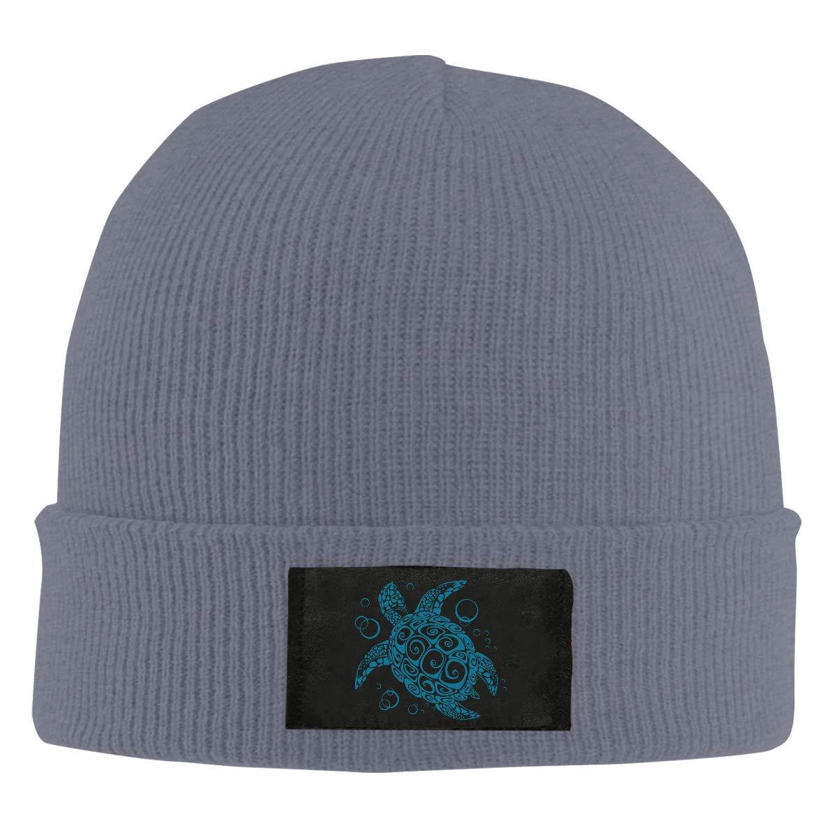 Tribal Sea Turtle Men /& Womens Knitted Hat Comfortable Fleece Beanie Hat
