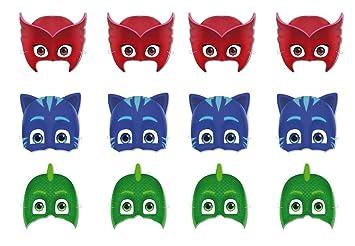PJ Masks 0551, Pack 12 caretas, Fiestas y cumpleaños: Amazon ...